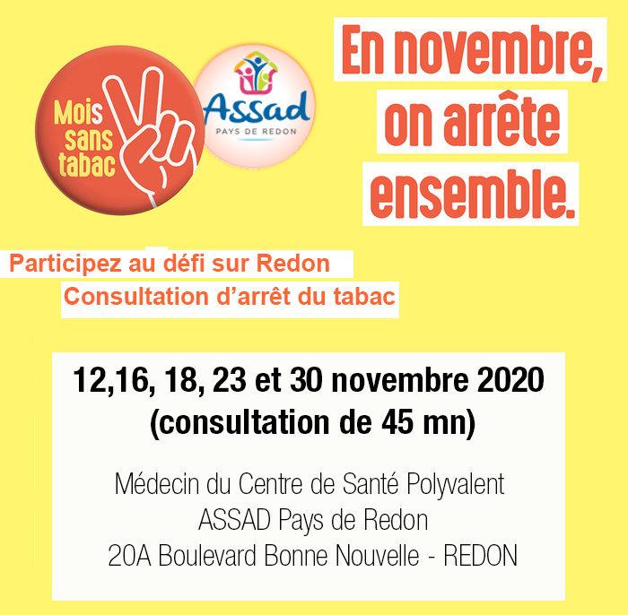 Consultation de sevrage tabagique au Centre de santé polyvalent de l'ASSAD